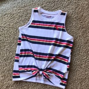 Stripped knot tank top